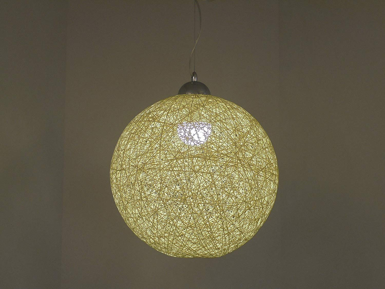 suspension-boule pour lampe en ficelle